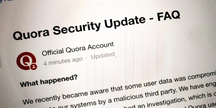 Quora data hacked